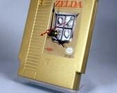 VINTAGE Gold Nintendo Zelda Cartridge Clock (1987)