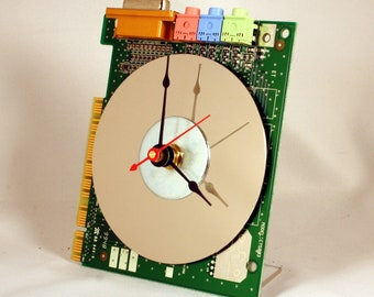 Computer Sound Card Circuit Board Desk Clock