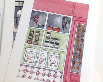 The Indian Spice Shop - Giclee print of original illustration