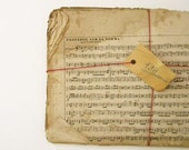 French antique music sheets, lot of 23, unmounted