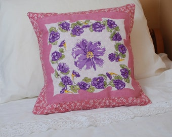 Vintage Handkerchief Pillow Cover Free Shipping