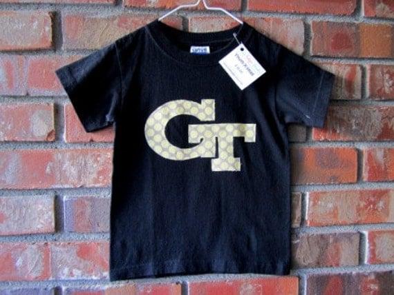 READY TO SHIP- Size youth x-small-Georgia Tech T-shirt- Go Jackets