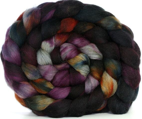 Hand dyed SW Merino/Alpaca Combed Top-- 6.5 oz--