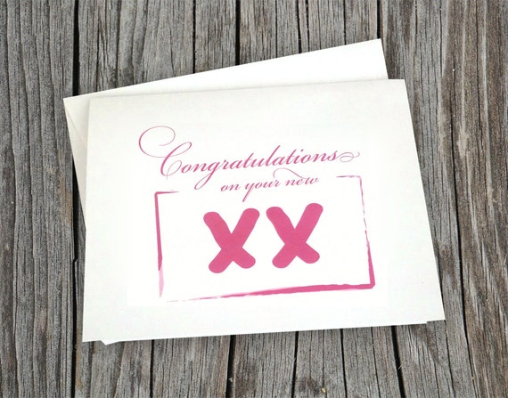 Congratulations on Your New Baby Girl - XX Chromosome Note Card