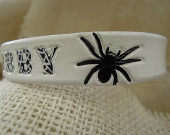 Spider Collar with Spiderweb Letters