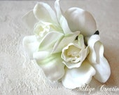 Wedding Hair Flowers - Gardenias - Flower Hair Clip - Retro - Pinup - Vintage Inspired - Wedding Hair Piece -   Billie