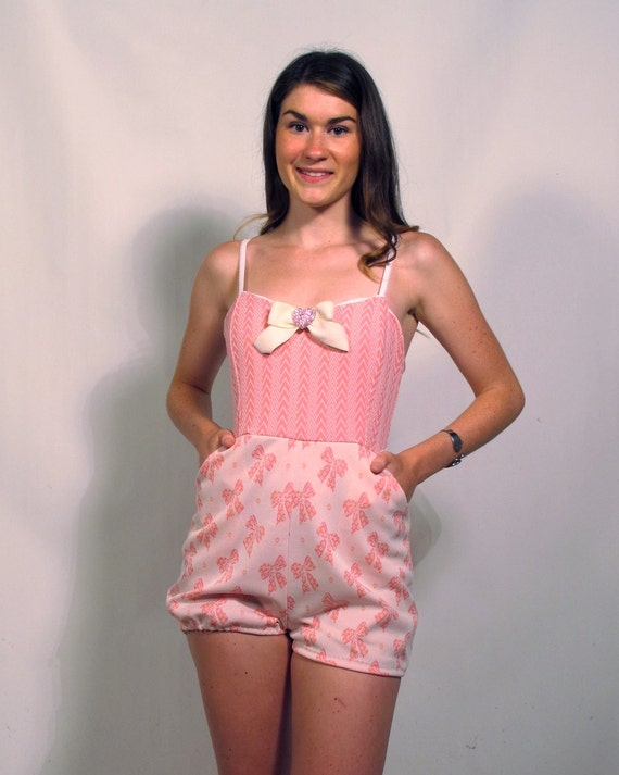 Pink Bows Playsuit