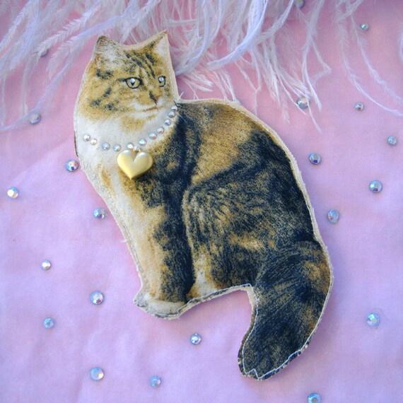 Handsome Cat Portrait Badge