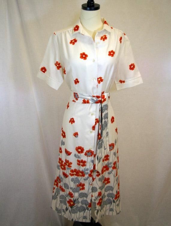 Vintage Lanvin Designer Poppy Dress