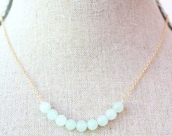 Pale Jade Semi Precious Necklace