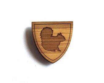 Smart Squirrel Pin. Squirrel Pin. Wood Tie Pin. Wood Lapel Pin. Tie Pin. Lapel Pin. Mens Lapel Pin. Boutonniere. Dad Gifts. Groomsmen Gift.