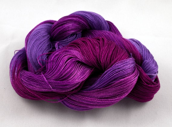 PASHMINA PURPLES Handpainted 8-2 Tencel Yarn