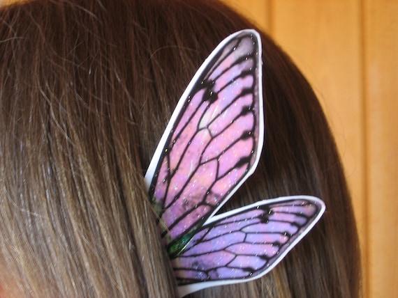 Fairy Fae Ear Wings White w/ Iridescence