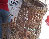 Medium Onion Basket in Brown Rush