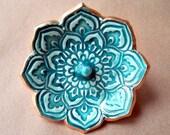 Malachite Lotus Ring Holder Bowl