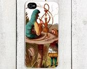 Alice Hookah Caterpillar Phone Case for  iPhone 4 4s 5 5s 5c SE 6 6s 7  6 6s 7 Plus Galaxy s4 s5 s6 s7 Edge