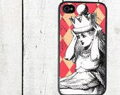 iphone 6 case Alice in Wonderland iPhone case,  with Crown, Pink Diamond Background - iPhone 5 Case - iphone 4,4s - Galaxy s3 s4 s5