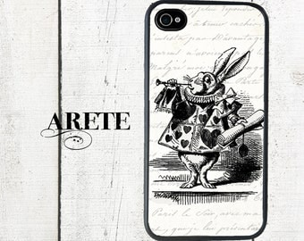 iphone 6 case Alice in Wonderland iPhone case,  White Rabbit, Black & White - iPhone 5 Case - iPhone 4,4s - Galaxy s3 s4 s5
