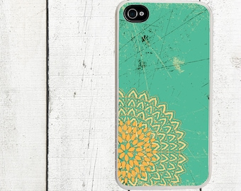 Coral and Teal Phone Case for  iPhone 4 4s 5 5s 5c SE 6 6s 7  6 6s 7 Plus Galaxy s4 s5 s6 s7 Edge
