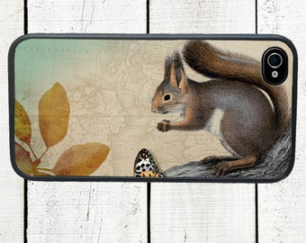 Woodland Squirrel Phone Case for  iPhone 4 4s 5 5s 5c SE 6 6s 7  6 6s 7 Plus Galaxy s4 s5 s6 s7 Edge
