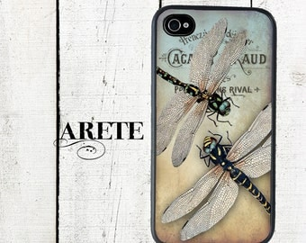 iphone 6 case Vintage Duo Dragonfly Phone Case for  iphone 5 iphone 5s iphone 5c iphone 4 iphone 4s samsung galaxy s3 s4 s5