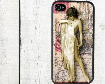 iphone 6 case Vintage Flapper iPhone Case, iPhone 4 4s Pink - iPhone 5 Case