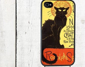 Chat Noir Phone Case French Catfor iPhone 4 4s 5 5s 5c SE 6 6s 7  6 6s 7 Plu Galaxy s4 s5 s6 s7 Edge