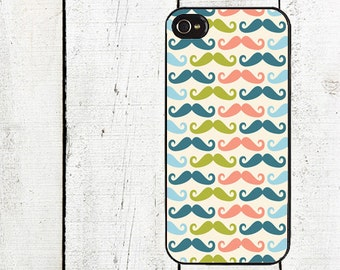 iphone 6 case Colorful Mustache Cell Phone Case - Pattern iPhone 4 Case - Cell Phone Case - iPhone 5 Case -Moustache