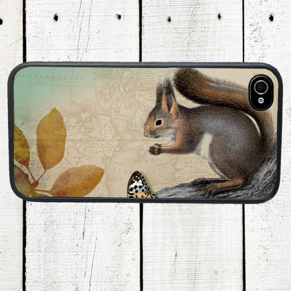 iphone 6 case Woodland Squirrel iPhone Case Woodland Creatures Autumn Harvest - iPhone 5 Case - iphone 4,4s cover - Galaxy s3 s4 s5