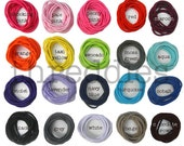 100 ponytail holders / ponytail elastics - MAKE YOUR own ASSORTMENT from 20 solid colors and 6 metallics - hair elastics