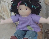 "Waldorf Boy Doll Outfit - Jeans or Khakis and Appliqued T - Custom Made to Fit your Doll 10 - 18"" tall"