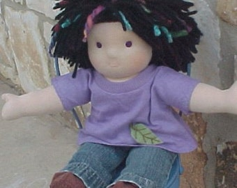 """Waldorf Boy Doll Outfit - Jeans or Khakis and Appliqued T - Custom Made to Fit your Doll 10 - 18"""" tall"""