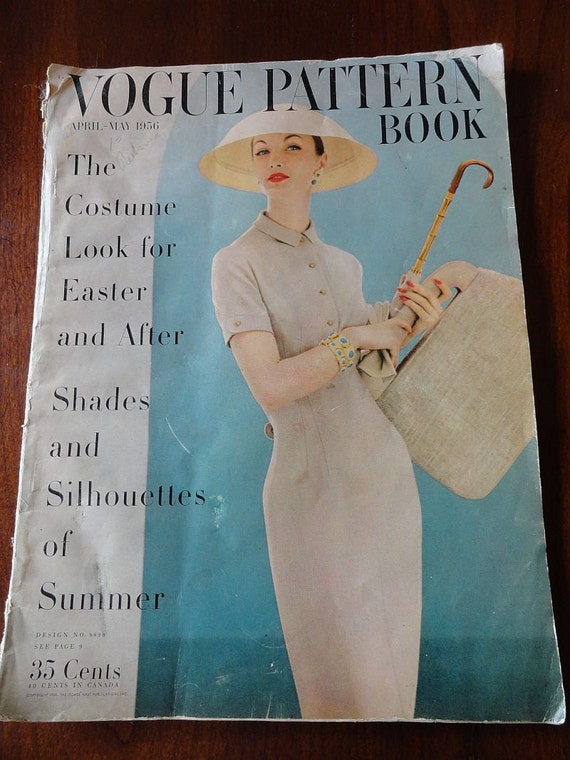 Vogue Pattern Book April May 1956 Vogue Magazine Past Issue
