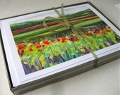 Vivid Landscape Series - set of 6 or 12 Blank Note Cards by Jenlo