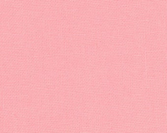 SALE - Betty's Pink Bella Solids cotton quilting fabric from Moda 9900 120