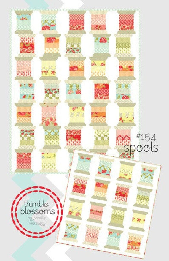 Spools quilt pattern from Thimble Blossoms - jelly roll lap or baby quilt