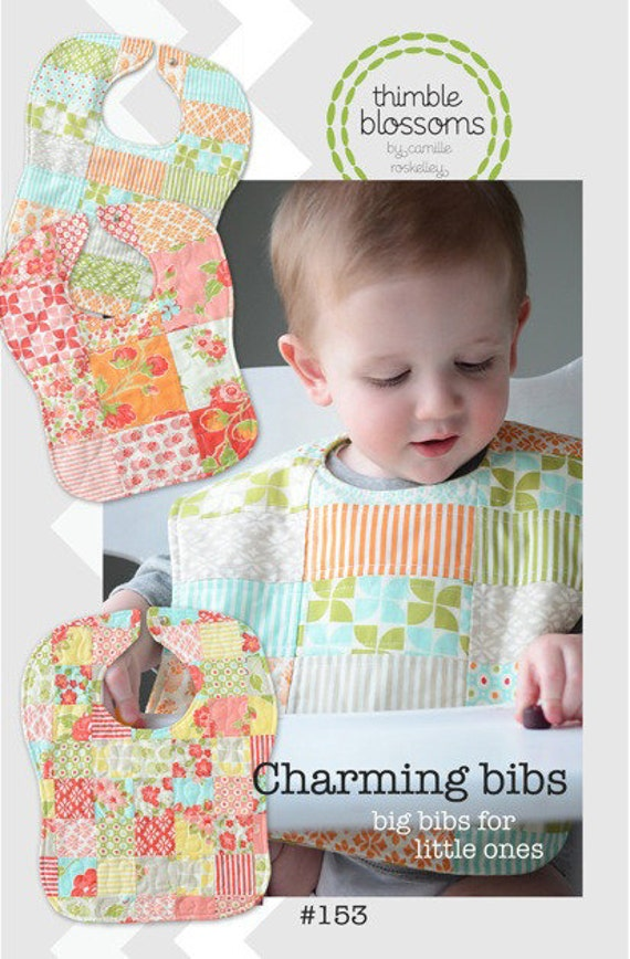Charming Bibs sewing pattern from Thimble Blossoms - charm pack and toddler friendly