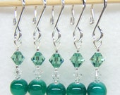 Irish Moss Stitch Marker Set for Knitting or Crochet (Customizable with Hooks or Rings)