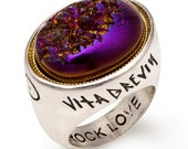 Astra Petas Druzy Ring - Purple