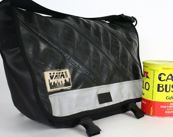 Petite Recycled Bike Tube Messenger Bag