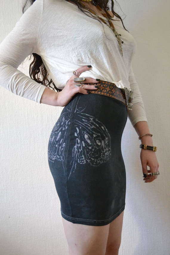 Dark Moth High Waist Mini Skirt