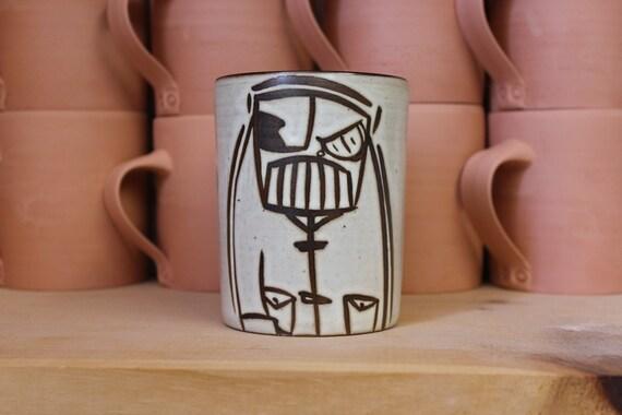Mad Scientist Robot Mug w/Monocle.