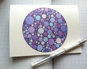 "VIOLET (hand-drawn) : one blank greeting card (5"" x 6.8"") and envelope - also suitable for framing as a print"