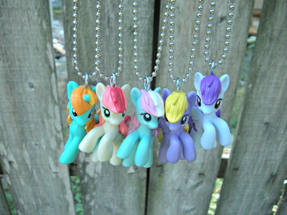 You choose pony 2 inch size my little pony necklace on 16 inch like this item mozeypictures Images