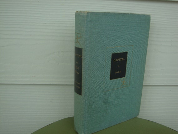 Vintage 1930s Capital by Karl Marx The Communist Manifesto Marxism Modern Library Book