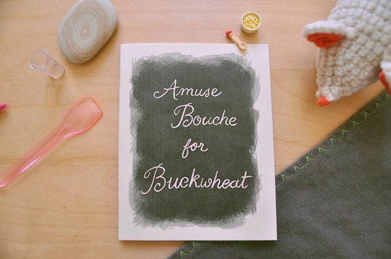 Amuse Bouche for Buckwheat - a mini Brux & Boggle zine