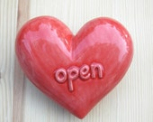 Open-  Ceramic Heart Rattle