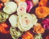 Paris Roses Photo, Flower Photography, Botanical Art Print, Shabby Chic Nature Photography, Romantic Home Decor