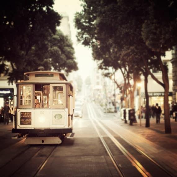 Cable Car Photograph San Francisco Art Print California