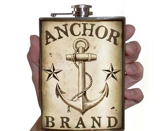 Anchor Flask - stainless steel - 8oz.